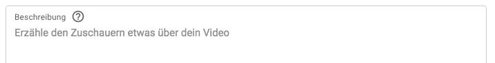 blog bekannt machen - youtube beschreibung